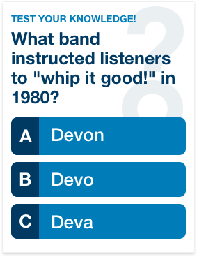One-hit Wonders of the '80s Quiz
